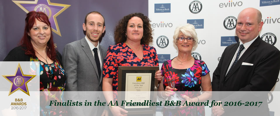 Finalist in the AA friendliest BandB Award 2016